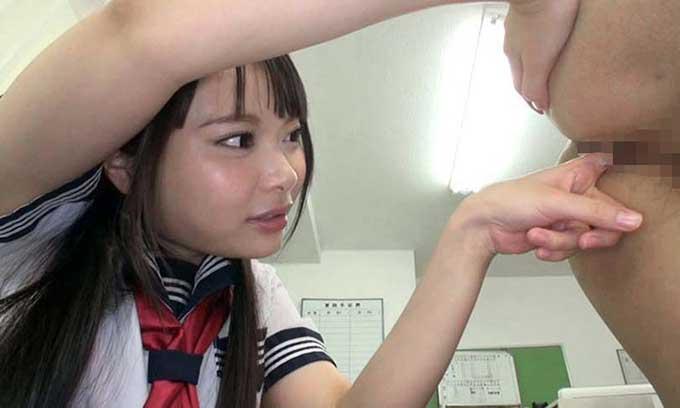 【痴女動画】変態JKの指アナル手コキ責め!感じるM男の表情で興奮するドS【CFNM】|なつめ愛莉